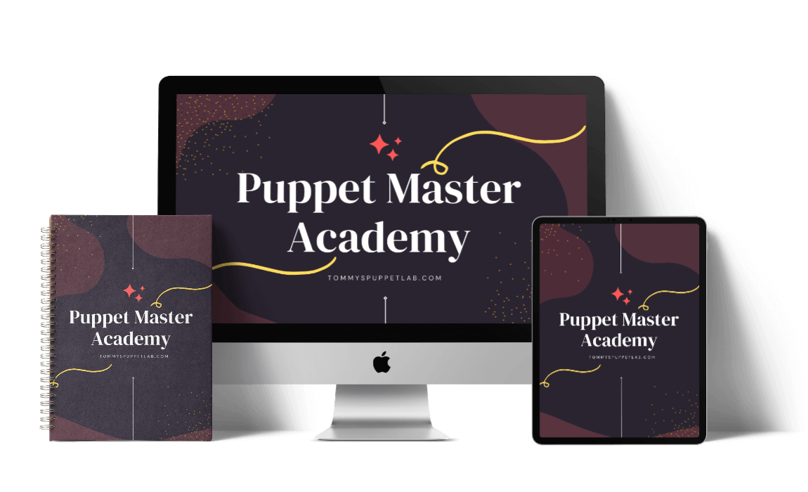 Puppet Master Academy mock up preview